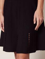 Vestido Corto De Punto Con Tirantes : null color Negro