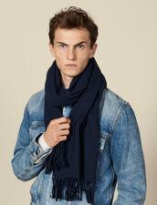 Bufanda de lana y cachemira : Bufandas color Marino
