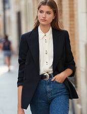 Blazer oversize de rayas : FBlackFriday-FR-FSelection-Blousons&Manteaux color Negro