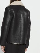 Chaqueta de piel lanuda : Toda la Selección color Negro