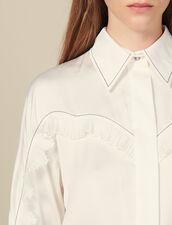 Camisa Con Cortes Estilo Wéstern : -40% color Crudo