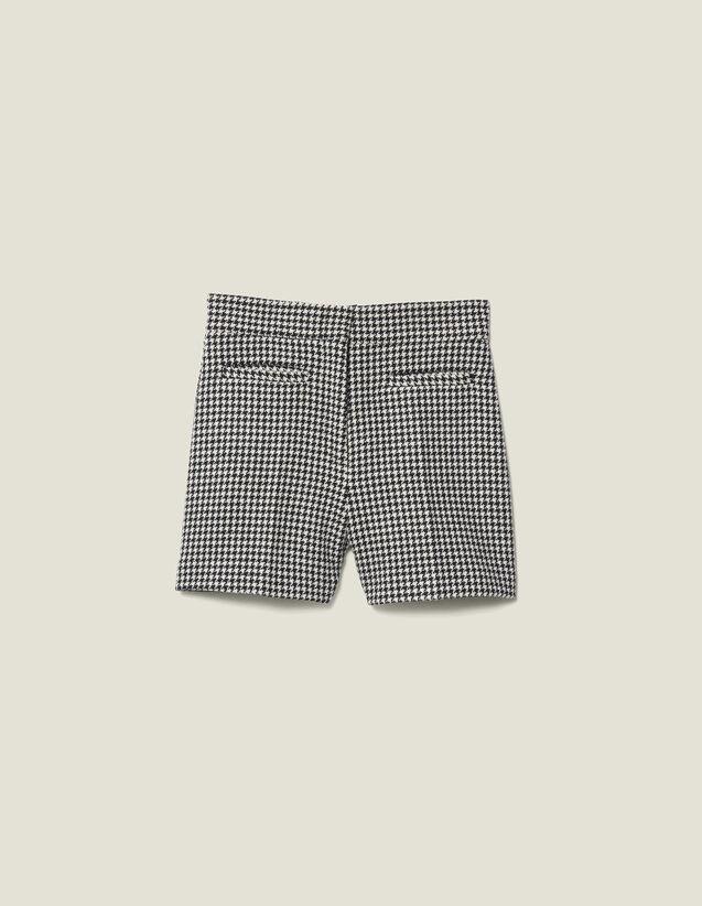 Short de conjunto de pata de gallo : Faldas & Shorts color Negro