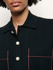 Cárdigan corto tipo camiseta : Jerseys & Cárdigans color Negro