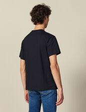 Camiseta De Algodón Con Mensaje : Colección de invierno color Marino