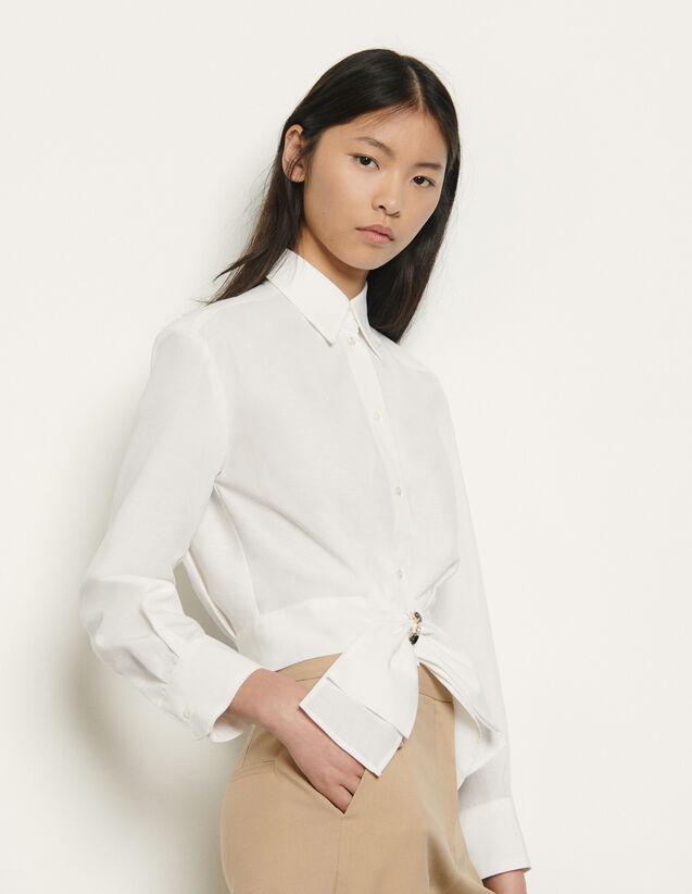 Camisa corta con un lazo extraíble : Tops & Camisas color Blanco