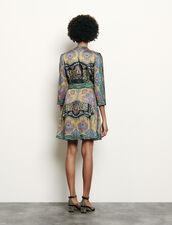 Vestido corto estampado : Vestidos color Negro
