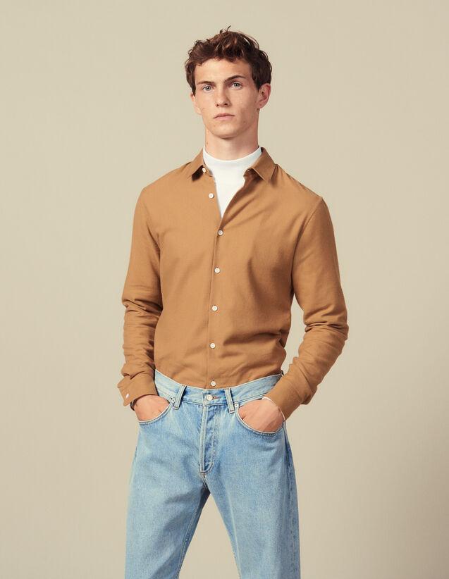 Camisa de franela : Camisas color Crudo