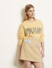 Falda corta de tweed : Faldas & Shorts color Beige