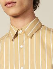 Camisa De Rayas De Algodón : Colección de invierno color Beige/blanc