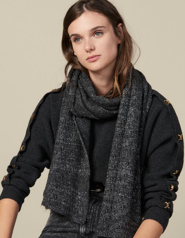 Bufanda de lúrex : Bufandas color Negro
