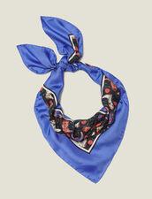 Fular De Seda, Estampado Mini De Botines : Bufandas color Azul