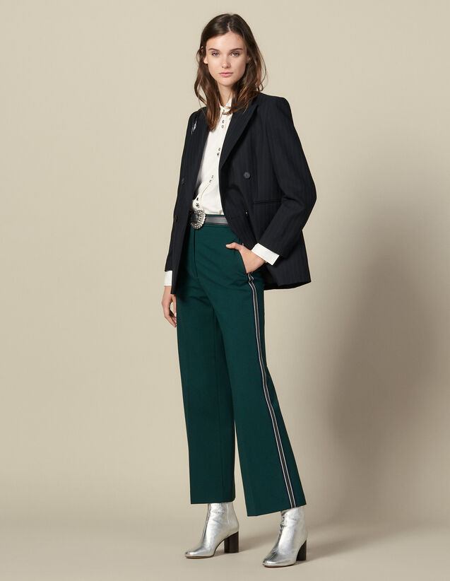 Pantalón ancho con pasamanos tricolores : FBlackFriday-FR-FSelection-30 color verde