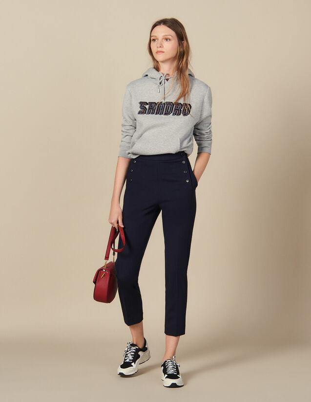 Pantalón marinero afilado : Pantalones color Marino