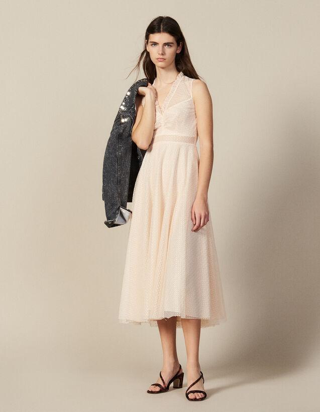 Vestido largo de tul bordado : FBlackFriday-FR-FSelection-30 color Rojizo