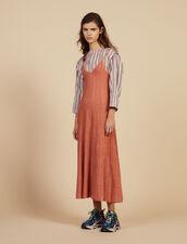 Vestido Largo De Punto De Tirantes Finos : null color Pêche