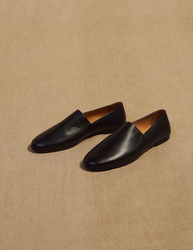Zapatos De Piel Graneada : La maleta de verano color Negro