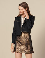 Falda Efecto Cruzado De Brocado : FBlackFriday-FR-FSelection-Jupes&Shorts color Oro