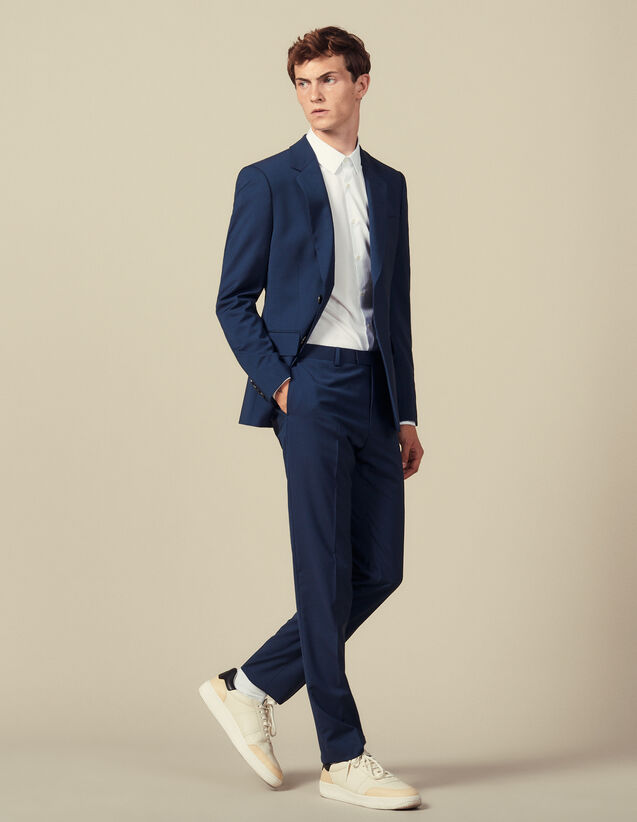 Pantalón de traje clásico Super 110 : Colección de Invierno color Pétrole