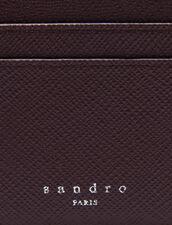 Tarjetero de piel : Tarjeteros & Carteras color Burdeos