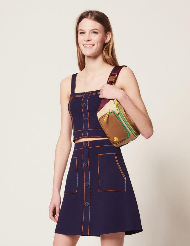 Falda Corta De Punto : Faldas & Shorts color Marino