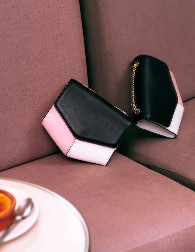 Bolso Lou Modelo Pequeño : My Lou Bag color Noir/Blanc/Pivoine