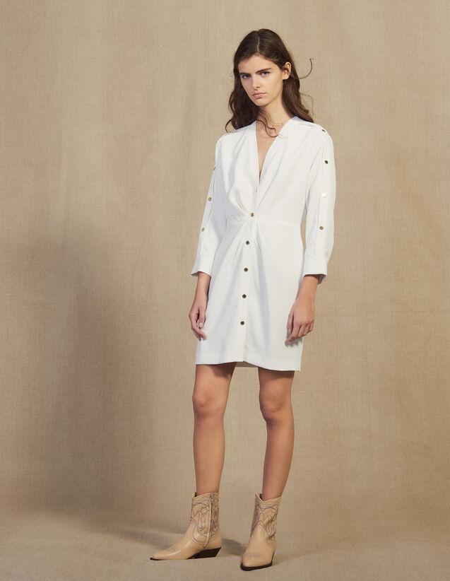 Vestido Corto Con Botones Dorados : FBlackFriday-FR-FSelection-30 color Marino