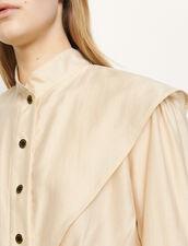 Camisa corta con cuello Mao : Tops & Camisas color Beige