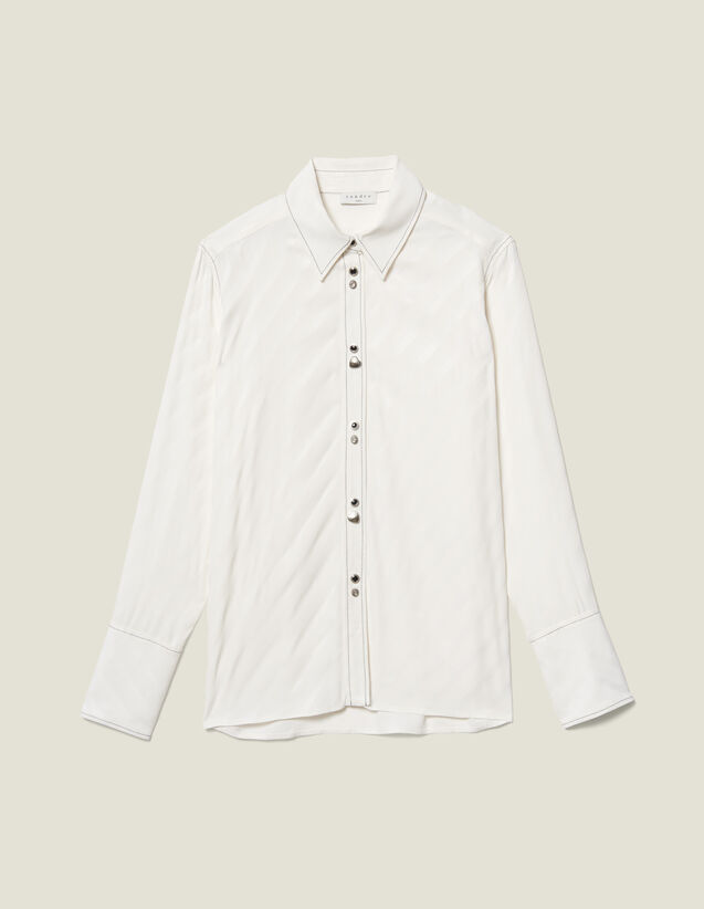 Camisa Adornada Con Botones Joya : FBlackFriday-FR-FSelection-30 color Crudo