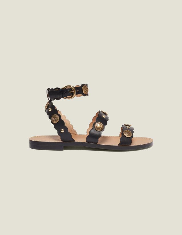 Sandalias Planas Y Remaches Decorativos : Todos Zapatos color Negro