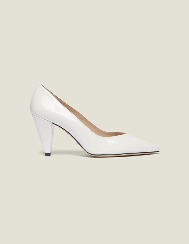 Escarpines De Piel Brillante : Todos Zapatos color Blanco