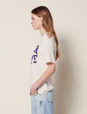 Camiseta Con Cortes En Los Hombros : null color Blanco