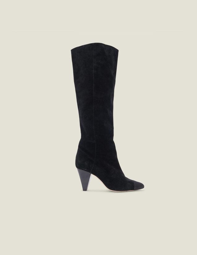 Botas de piel con punta fina : Todos Zapatos color Negro