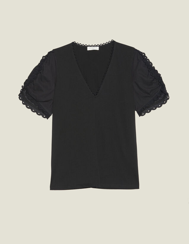 Camiseta De Manga Corta Ancha : LastChance-FR-FSelection color Negro