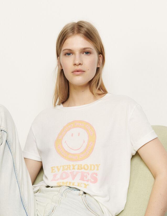 Camiseta con motivo de adorno : Camisetas color Blanc / Jaune