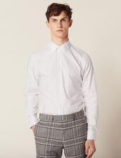 Camisa Formal De Tejido Oxford : SOLDES-CH-HSelection-PAP&ACCESS-2DEM color Blanco