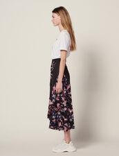 Falda Larga Fluida Estampada : Faldas & Shorts color Negro