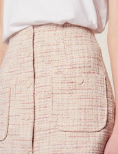 Falda Corta De Tweed : null color Rosa