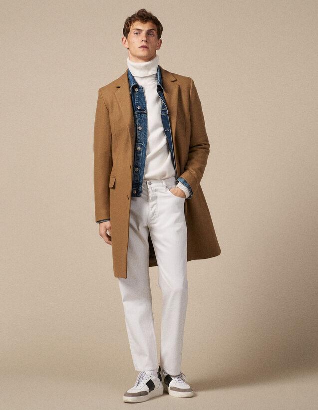 Abrigo largo con cierre de tres botones : Trenchs & Abrigos color Marino