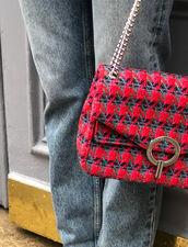 Bolso Yza de tweed : Lo mejor de la temporada color Rojo