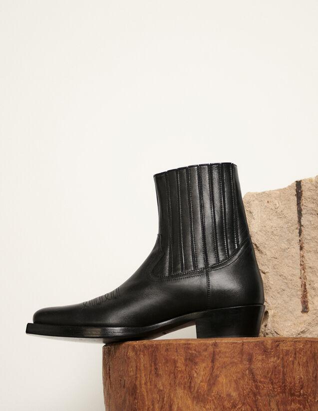 Botines tipo cowboy : Zapatos color Negro