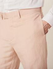 Pantalón De Traje De Mezcla De Lino : Trajes & Smokings color Rosa palo