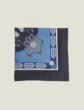 Fular Estampado De Seda : null color Bleu jean