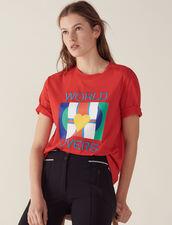 Camiseta Con Logotipo Drapeado Y Bordado : LastChance-FR-FSelection color Rojo