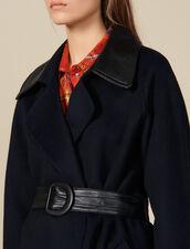 Gabardina De Doble Cara De Lana : Abrigos color Navy