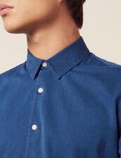 Camisa Informal De Cambray Desteñido : Camisas color Blue Vintage - Denim