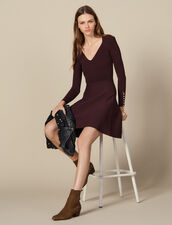 Vestido de punto con botones joya : SOLDES-DE-FSelection-PAP&ACCESS color Brown