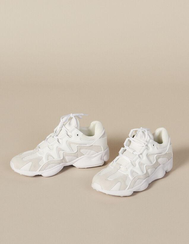 Deportivas De Varios Materiales : Zapatos color Beige