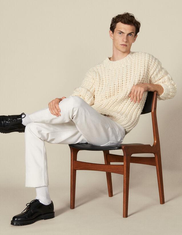 Jersey tejido a mano : Jerseys & Cárdigans color Crudo