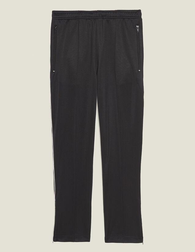 Pantalón De Jogging Estilo Track Pant : Pantalones & Bermudas color Negro