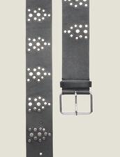 Cinturón Negro Adornado Con Tachuelas : FBlackFriday-FR-FSelection-AutresAccessoires color Negro